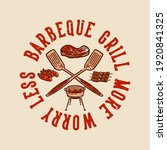 t shirt design barbeque grill...   Shutterstock .eps vector #1920841325