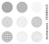set of abstract dotted spheres | Shutterstock .eps vector #192085415
