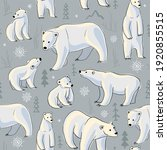 polar bears in the north... | Shutterstock .eps vector #1920855515