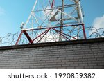 Telecommunication Tower Against ...