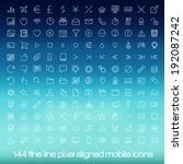 144 cutting edge modern icons...
