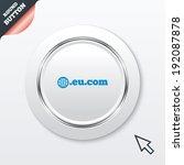domain eu.com sign icon....