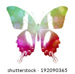 colorful abstract butterfly  ... | Shutterstock . vector #192090365