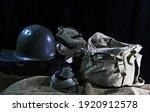 Combat Helmet With Water Bottle ...