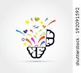 open your mind vector... | Shutterstock .eps vector #192091592