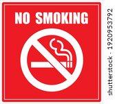 No Smoking Cigarette Sign. Eps...