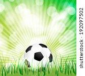 vector soccer ball on grass...   Shutterstock .eps vector #192097502