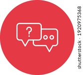 chat  dialogue  support icon...   Shutterstock .eps vector #1920975368