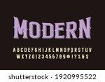 typeface vector design ...   Shutterstock .eps vector #1920995522