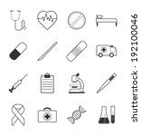 medical icons set | Shutterstock .eps vector #192100046