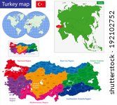 turkey map designed in... | Shutterstock .eps vector #192102752