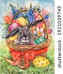 Watercolor Little Gray Rabbit...