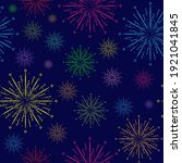 colored fireworks. seamless... | Shutterstock .eps vector #1921041845