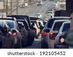 traffic jams in the city  road  ... | Shutterstock . vector #192105452