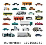 different vehicles  city... | Shutterstock .eps vector #1921066352