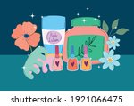 beauty makeup nail polish... | Shutterstock .eps vector #1921066475