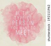 inspirational motivating quote... | Shutterstock . vector #192111962