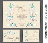 wedding invitation card with... | Shutterstock .eps vector #192112088