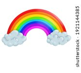 cute rainbow art illustration...   Shutterstock . vector #1921144385