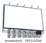 Small photo of bilboard advertizement isolated on white