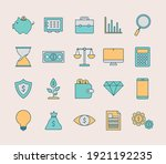 set of finance and invest icons ...   Shutterstock .eps vector #1921192235