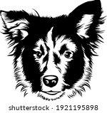 dog head vector line art | Shutterstock .eps vector #1921195898