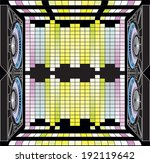 musical columns and dynamic...   Shutterstock . vector #192119642