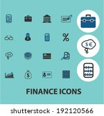 finance  money icons  signs set ... | Shutterstock .eps vector #192120566
