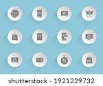 e shopping vector icons on...