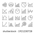 graph icon. chart and graph... | Shutterstock .eps vector #1921230728
