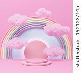pink pastel podium display... | Shutterstock . vector #1921237145