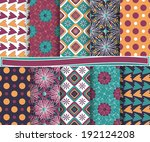 set of  abstract vector paper ... | Shutterstock .eps vector #192124208