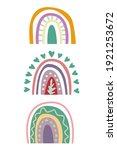 boho rainbow poster for kids... | Shutterstock .eps vector #1921253672