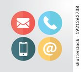 contact icon set vector objects | Shutterstock .eps vector #1921262738