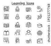 learning and education icon set ... | Shutterstock .eps vector #1921277768