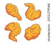 fried chicken clip art set  | Shutterstock .eps vector #1921279568