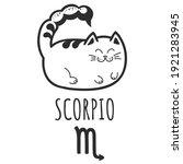 scorpio sign of the zodiac  cat ...   Shutterstock .eps vector #1921283945