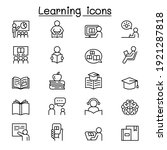 learning and education icon set ... | Shutterstock .eps vector #1921287818