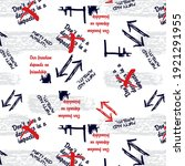 urban graffiti words abstract... | Shutterstock .eps vector #1921291955
