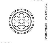 seder plate  passover seder...   Shutterstock .eps vector #1921298612