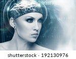 future woman  abstract sci fi...   Shutterstock . vector #192130976