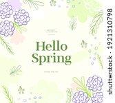 shopping banner illustration... | Shutterstock .eps vector #1921310798