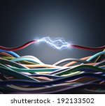 an electric wire cutted  pass... | Shutterstock . vector #192133502