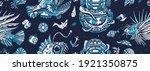 underwater world seamless... | Shutterstock .eps vector #1921350875