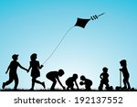 children playing in the park | Shutterstock .eps vector #192137552