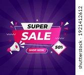 super sale banner templete... | Shutterstock .eps vector #1921412612