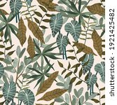 tropical print. seamless...   Shutterstock . vector #1921425482