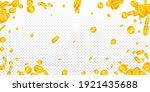 american dollar coins falling.... | Shutterstock .eps vector #1921435688