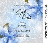 wedding invitation   Shutterstock .eps vector #192146858