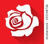 White Rose On A Red Background...